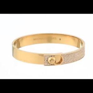 Michael Kors Astor Gold Pave Gold Bangle